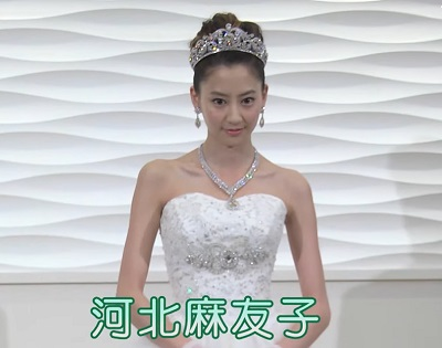 河北麻友子のウェディングドレス姿