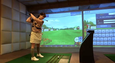 ゴルフ初心者の頃のなみきちゃん