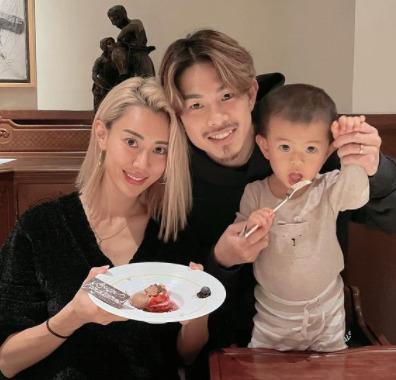 井岡一翔と嫁と子供