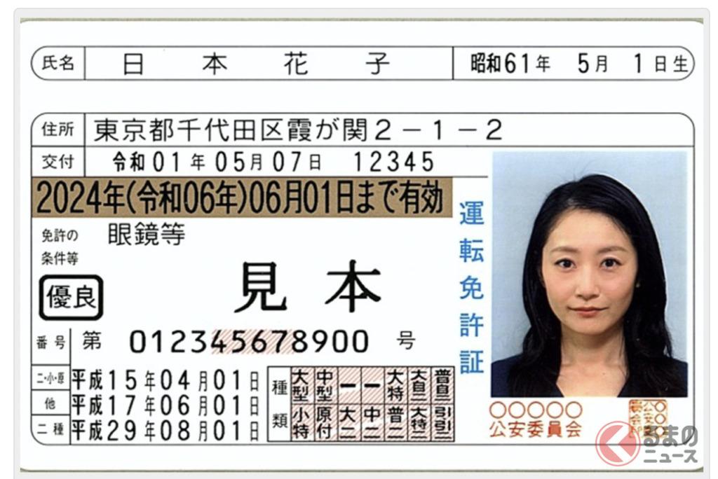 2代目・日本花子の免許証