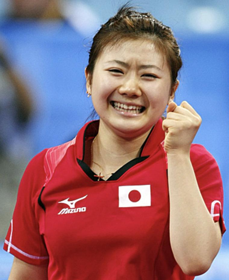 北京オリンピック時の福原愛