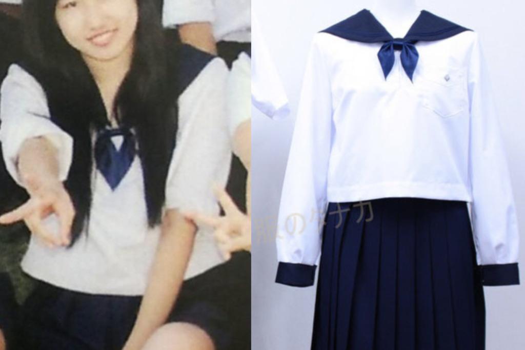 須藤早貴の制服姿と丘珠高校制服の比較画像