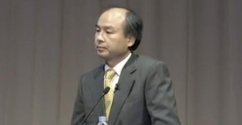ソフトバンク記者会見時の孫正義(2012)