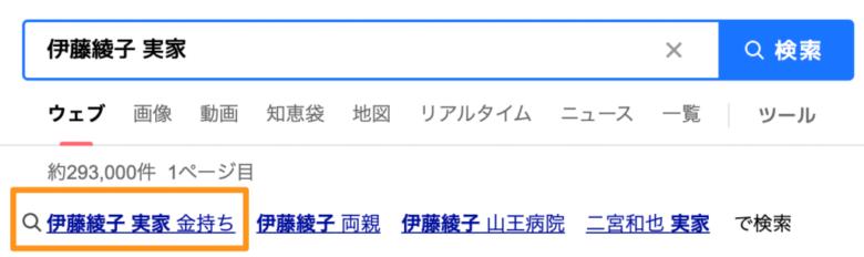 「伊藤綾子 実家」の検索結果