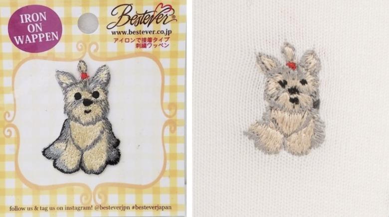 ベストエバージャパンの刺繍ワッペンとチュチュアンナの刺繍靴下比較画像